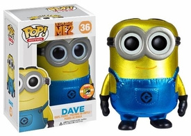 Funko POP! Despicable Me 2 SDCC 2013 San Diego Comic-Con Exclusive Vinyl Figure Dave [Metallic]