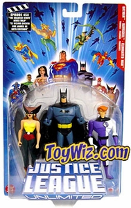 Justice League Unlimited Series 1 Action Figure 3-Pack Batman, Hawkgirl & Elongated Man