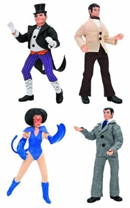Batman Retro 8 Inch Series 2 Set of 4 Action Figures [Penguin, Catwoman, Bruce Wayne & Dick Grayson]