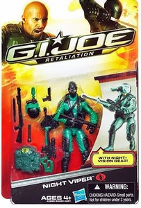 GI Joe Retaliation Movie 3.75 Inch Action Figure Night Viper [Night Vision Gear!]