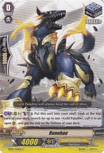 Cardfight Vanguard ENGLISH Clash of the Knights & Dragons Single Card Common BT09/096 Runebau