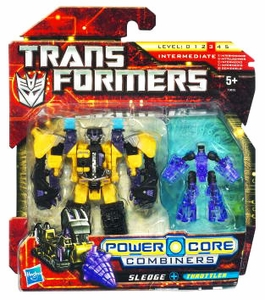 Transformers: Power Core Action Figure 2-Pack Sledge with Throttler