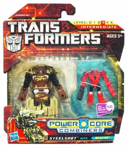 Transformers: Power Core Action Figure 2-Pack Steelshot with Beacon