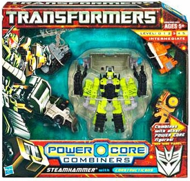 Transformers: Power Core Action Figure Combiner 5-Pack Steamhammer with Constructicons