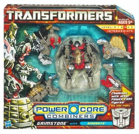 Transformers: Power Core Action Figure Combiner 5-Pack Grimstone with Dinobots