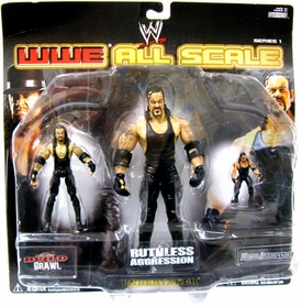WWE Wrestling All Scale Series 1 Action Figure 3-Pack Set Undertaker [Ruthless, Build N Brawl & Micro]