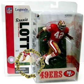 McFarlane Toys NFL Sports Picks Legends Series 2 Action Figure Ronnie Lott (San Francisco 49ers) Red Jersey