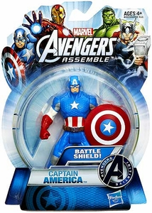 Marvel Avengers Assemble Action Figure Battle Shield Captain America