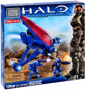 Halo Mega Bloks Exclusive Set #97202 Blue Series Banshee