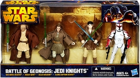 Star Wars 2013 Exclusive Action Figure 4-Pack Battle of Geonosis: Jedi Knights [Que-Mars Redath, Khaat Qiyn, Selig Kenjenn & Clone Captain Deviss]