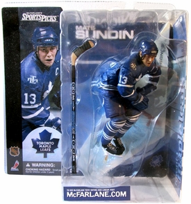McFarlane Toys NHL Sports Picks Series 1 Action Figure Mats Sundin (Toronto Maple Leafs) Damaged Package, Mint Contents!
