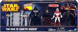 Star Wars 2013 Exclusive Action Figure 4-Pack Rise of Darth Vader [Vader, Palpatine, Shock Trooper & Medical Droid]