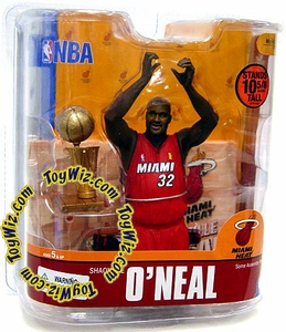 McFarlane Toys NBA Sports Picks Series 13 Action Figure Shaquille O'Neal (Miami Heat) Red Jersey