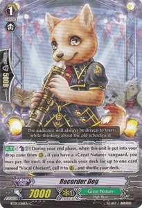 Cardfight Vanguard ENGLISH Clash of the Knights & Dragons Single Card Common BT09/088 Recorder Dog