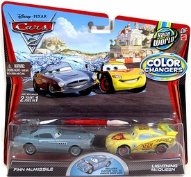 Disney / Pixar CARS 2 Movie 1:55 Exclusive Color Changers 2-Pack Finn McMissile & Lightning McQueen