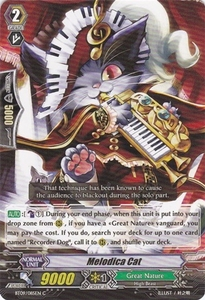 Cardfight Vanguard ENGLISH Clash of the Knights & Dragons Single Card Common BT09/085 Melodica Cat