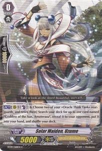 Cardfight Vanguard ENGLISH Clash of the Knights & Dragons Single Card Common BT09/068 Solar Maiden, Uzume