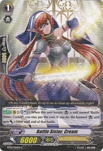 Cardfight Vanguard ENGLISH Clash of the Knights & Dragons Single Card Common BT09/066 Battle Sister, Cream