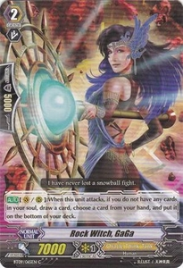 Cardfight Vanguard ENGLISH Clash of the Knights & Dragons Single Card Common BT09/065 Rock Witch, GaGa