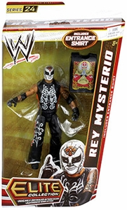 Mattel WWE Wrestling Elite Series 24 Action Figure Rey Mysterio [Entrance Shirt!]
