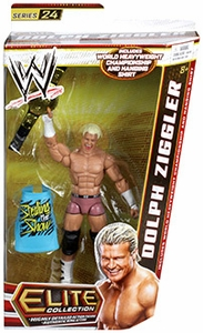 Mattel WWE Wrestling Elite Series 24 Action Figure Dolph Ziggler [World Heavyweight Championship Belt & Hanging Shirt!]
