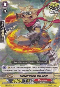 Cardfight Vanguard ENGLISH Clash of the Knights & Dragons Single Card Common BT09/057 Stealth Beast, Cat Devil