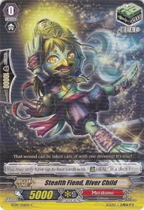 Cardfight Vanguard ENGLISH Clash of the Knights & Dragons Single Card Common BT09/056 Stealth Fiend, River Child