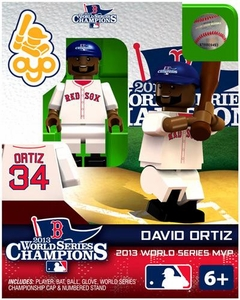 OYO Baseball MLB Generation 2 Building Brick Minifigure 2013 World Series Champions David Ortiz [Boston Red Sox]