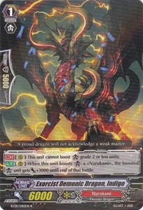 Cardfight Vanguard ENGLISH Clash of the Knights & Dragons Single Card Rare BT09/040 Exorcist Demonic Dragon, Indigo