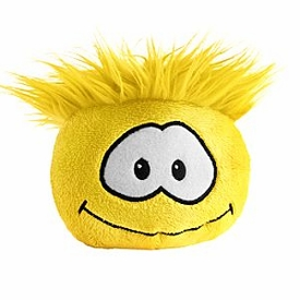 Disney Club Penguin 4 Inch Plush Puffle Yellow [NO CODE!] Random Facial Expression!
