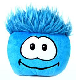 Disney Club Penguin 4 Inch Plush Puffle Blue [NO CODE!] Random Facial Expression!