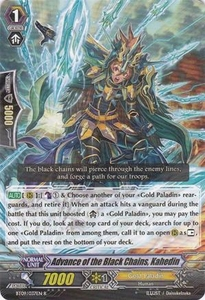 Cardfight Vanguard ENGLISH Clash of the Knights & Dragons Single Card Rare BT09/037 Advance of the Black Chains, Kahedin