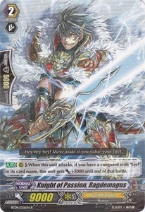 Cardfight Vanguard ENGLISH Clash of the Knights & Dragons Single Card Rare BT09/036 Knight of Passion, Bagdemagus