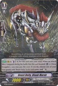Cardfight Vanguard ENGLISH Clash of the Knights & Dragons Single Card Rare BT09/034 Beast Deity, Blank Marsh