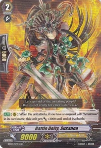 Cardfight Vanguard ENGLISH Clash of the Knights & Dragons Single Card Rare BT09/029 Battle Deity, Susanoo
