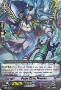 Cardfight Vanguard ENGLISH Clash of the Knights & Dragons Single Card Rare BT09/026 Battle Siren, Theresa