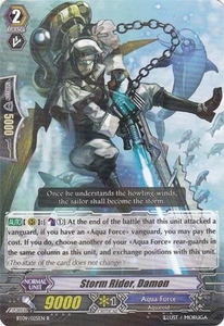 Cardfight Vanguard ENGLISH Clash of the Knights & Dragons Single Card Rare BT09/025 Storm Rider, Damon