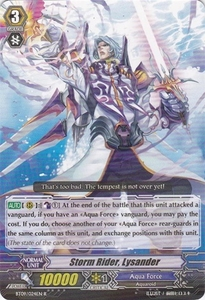 Cardfight Vanguard ENGLISH Clash of the Knights & Dragons Single Card Rare BT09/024 Storm Rider, Lysander