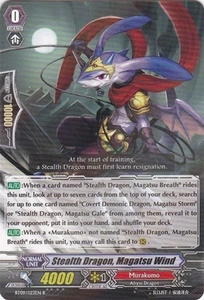 Cardfight Vanguard ENGLISH Clash of the Knights & Dragons Single Card Rare BT09/023 Stealth Dragon, Magatsu Wind