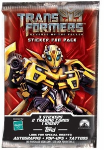 Topps Transformers: Revenge of the Fallen Movie Trading Cards Sticker Fun Pack