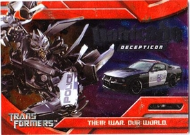Transformers Topps Movie Trading Cards Foil Card 7 of 10 Decepticon Barricade