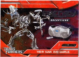 Transformers Topps Movie Trading Cards Foil Card 9 of 10 Decepticon Frenzy