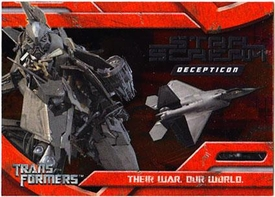 Transformers Topps Movie Trading Cards Foil Card 10 of 10 Decepticon Starscream