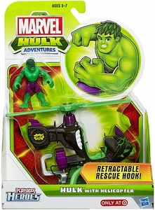 Marvel Playskool Hulk Adventures Figure & Vehicle Hulk with Helicopter
