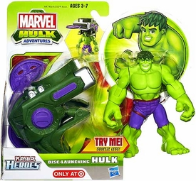Marvel Playskool Hulk Adventures Disc-Launching Hulk
