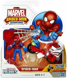 Marvel Playskool Spider-Man Adventures Mini Figure & Vehicle Spider-Man with Web Racer