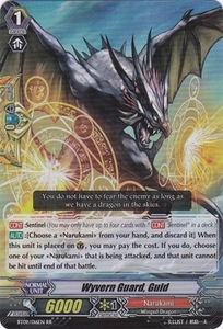 Cardfight Vanguard ENGLISH Clash of the Knights & Dragons Single Card RR Rare BT09/016 Wyvern Guard, Guld