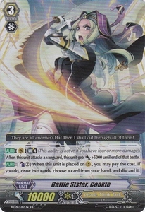 Cardfight Vanguard ENGLISH Clash of the Knights & Dragons Single Card RR Rare BT09/012 Battle Sister, Cookie