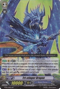 Cardfight Vanguard ENGLISH Clash of the Knights & Dragons Single Card RR Rare BT09/011 Tri-Stinger Dragon