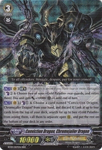 Cardfight Vanguard ENGLISH Clash of the Knights & Dragons Single Card RRR Rare BT09/007 Conviction Dragon, Chromejailer Dragon